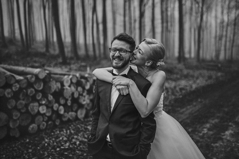 sesja ślubna we mgle, Złoty Potok