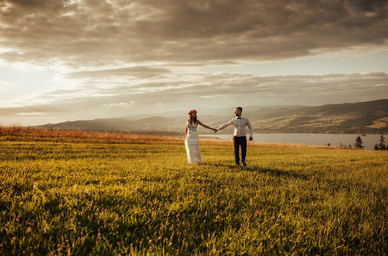 sesja ślubna w górach , Czorsztyn, Tomasz Konopka, fotografia ślubna śląsk Tomasz Konopka